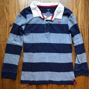 Boy's Carter's Long Sleeved Collared Tee